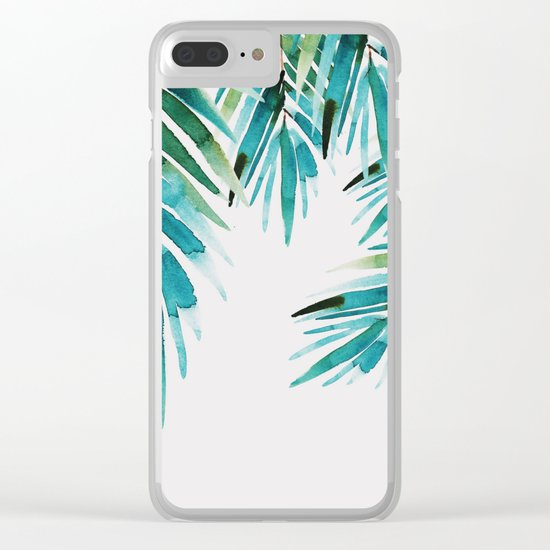 Under palm trees Clear iPhone Case