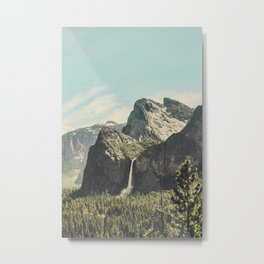 Yosemite Valley Waterfall Metal Print
