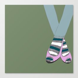 Socks and shoes Canvas Print