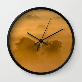 Gold in the Hedgerows Wall Clock