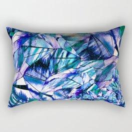 Crystal Blue Sapphire Gem Rectangular Pillow