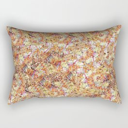 Modern orange faux gold glitter abstract pattern Rectangular Pillow