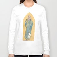 benedict Long Sleeve T-shirts featuring Saint Benedict by Tricksterbelle Productions
