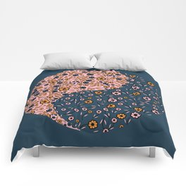 Yin and Yang Florals Comforters