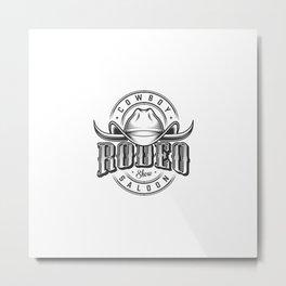 Emblemas Do Oeste Selvagem Metal Print
