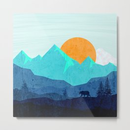 Wild mountain sunset landscape Metal Print