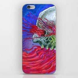 Galaxy Blood Skull Art iPhone Skin