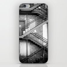 Steel Stairway (BW) iPhone & iPod Skin