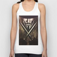 vendetta Tank Tops featuring VENDETTA by The Traveling Catburys