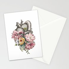 Floral Anatomy Heart Stationery Cards