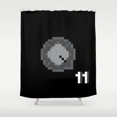 This is Pixel Tap Shower Curtain