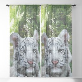 White Tiger Sheer Curtain