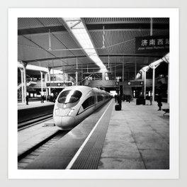 Train to Shanghai Art Print