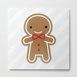 Cookie Cute Gingerbread Man Metal Print
