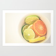 Citrus on White Art Print