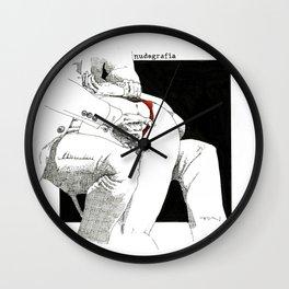 Nudegrafia - 004 fingering Wall Clock