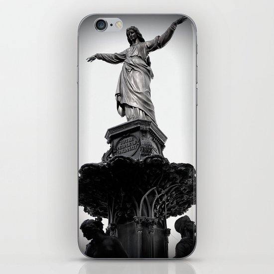 The Lady Of Fountain Square iPhone & iPod Skin
