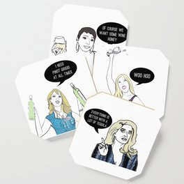 Real Housewives Drinking Coaster