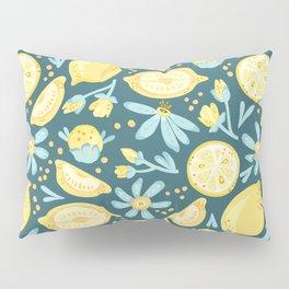 Lemon Pattern Green Pillow Sham