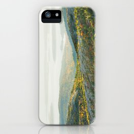 Cadillac Mountain in Fall, Acadia National Park on The Coast Of Maine iPhone Case