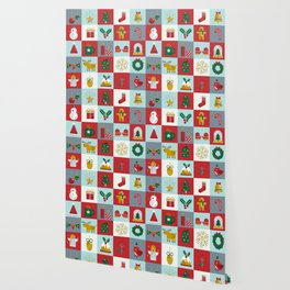 Fun Christmas Pattern Wallpaper