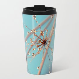 Queen Anne's Lace in Blue Travel Mug