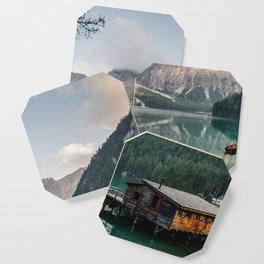 Mountain Lake Cabin Retreat Coaster