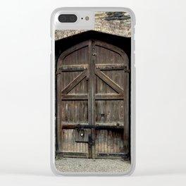 Old Wooden Door | Doors | Ireland | Kilmainham Gaol Door Clear iPhone Case