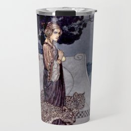 """""""Circe With Leopards"""" by Edmund Dulac Travel Mug"""