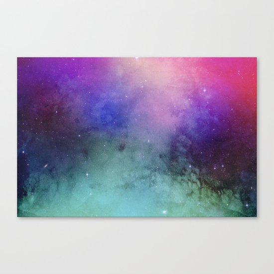 Mystical azure galaxy Canvas Print