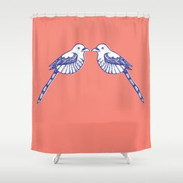 Turtle doves Shower Curtain