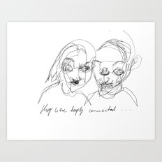 They were deeply connected Art Print