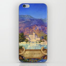 Broadmoor Hotel, Colorado Springs landscape by Maxfield Parrish iPhone Skin