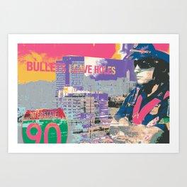 BPD Bullets Leave Holes Art Print