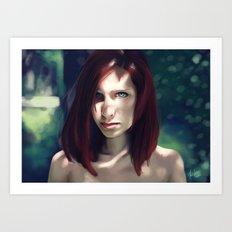 Beautiful Red Art Print