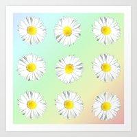White Wildflower Art Print