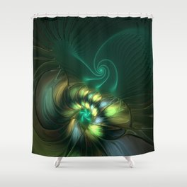 Fractal Fantasia, Radiant And Magical Shower Curtain