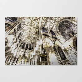 Cathedral Architecture Art Canvas Print