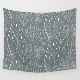 Autumn Grey Wall Tapestry