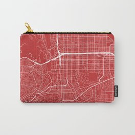Pasadena Map, USA - Red Carry-All Pouch