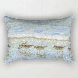 Shorebirds, A Day at the Beach Rectangular Pillow