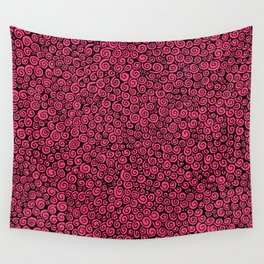 Pink Spirals Wall Tapestry