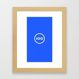 100 Shapes Framed Art Print