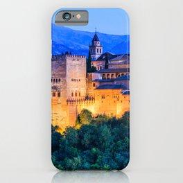 Alhambra of Granada, Spain. iPhone Case