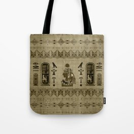 Hathor Egyptian Ornament Tote Bag