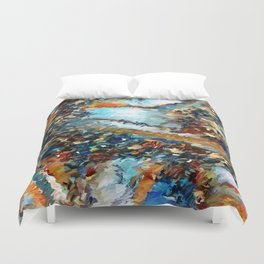 Agate Geode Abstract Duvet Cover