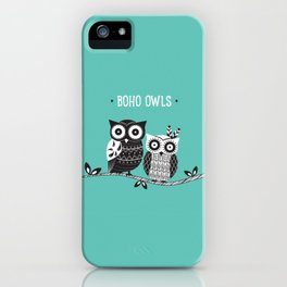 Boho Owls iPhone Case