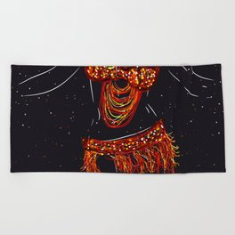 Belly Dancing Beach Towel