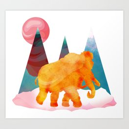 Mammoth Mountains Art Print