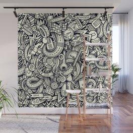 car doodle 1 Wall Mural